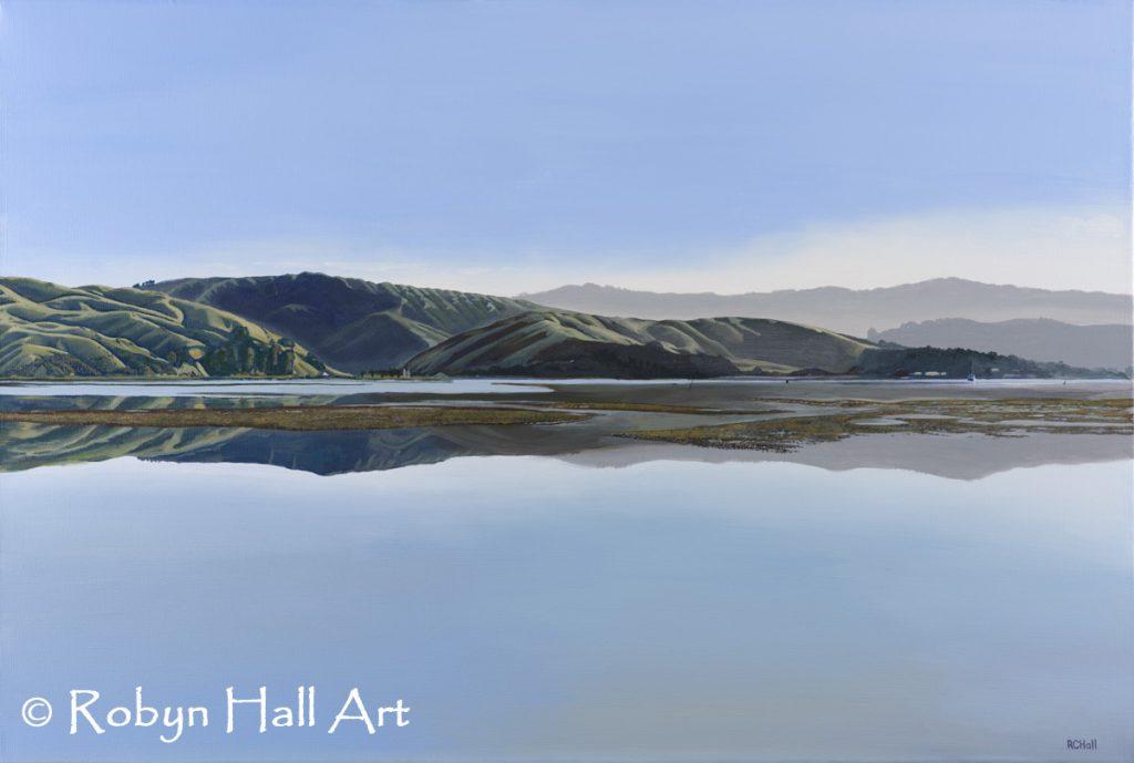 Pauatahanui Hills 2017 - Acrylic Painting