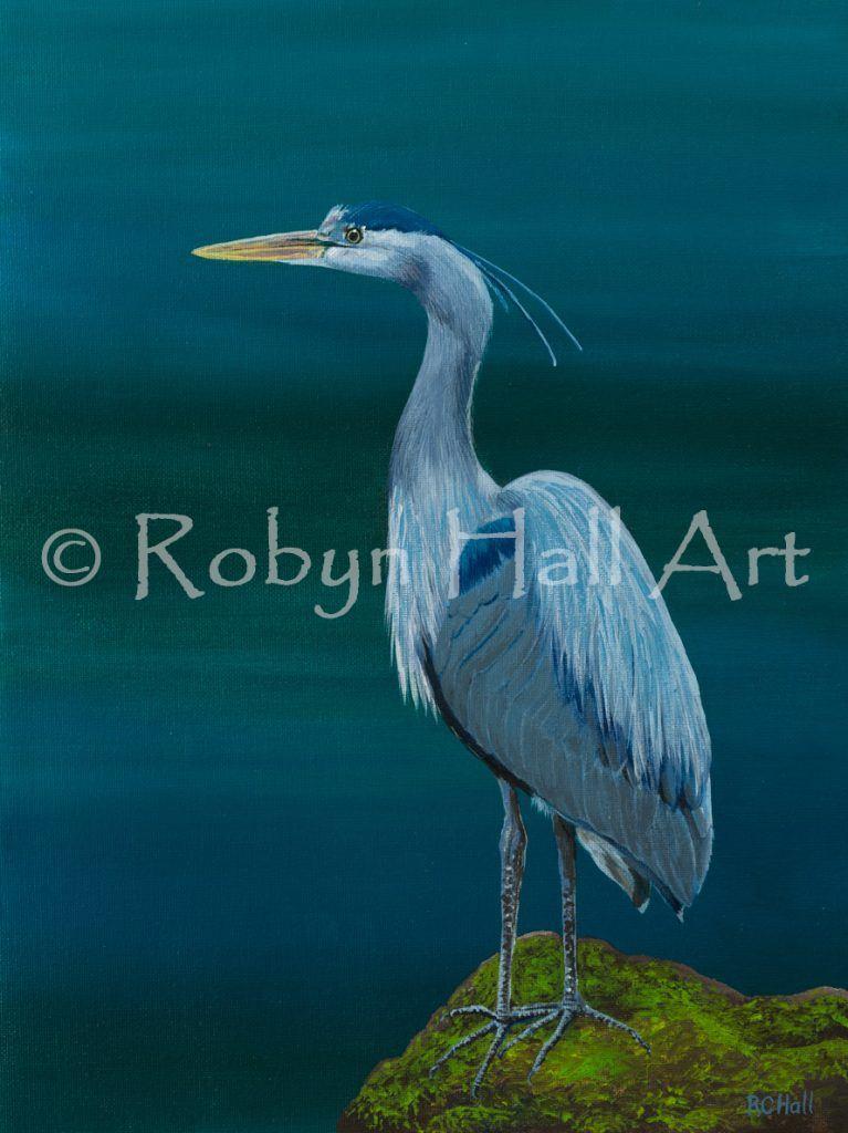 Blue Heron 2016 - Acrylic Painting