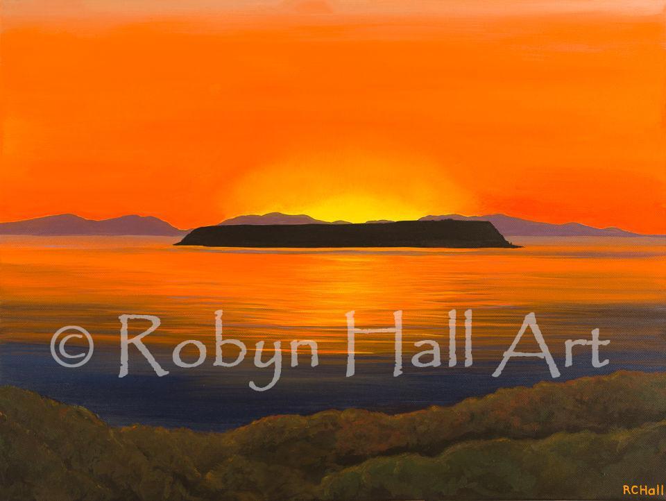 Mana Island Sunset - 2015 - Acrylic