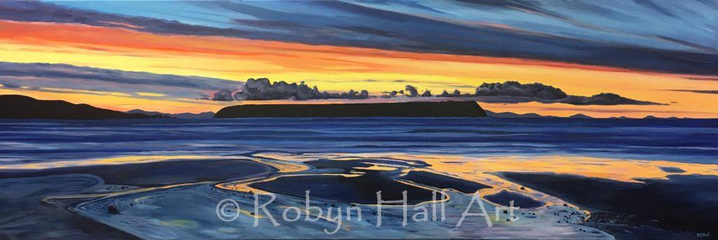 Mana Island Sunset 2017 - Acrylic Painting