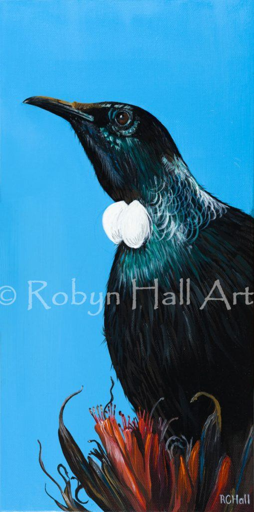 Motukaraka Tui - Acrylic Painting