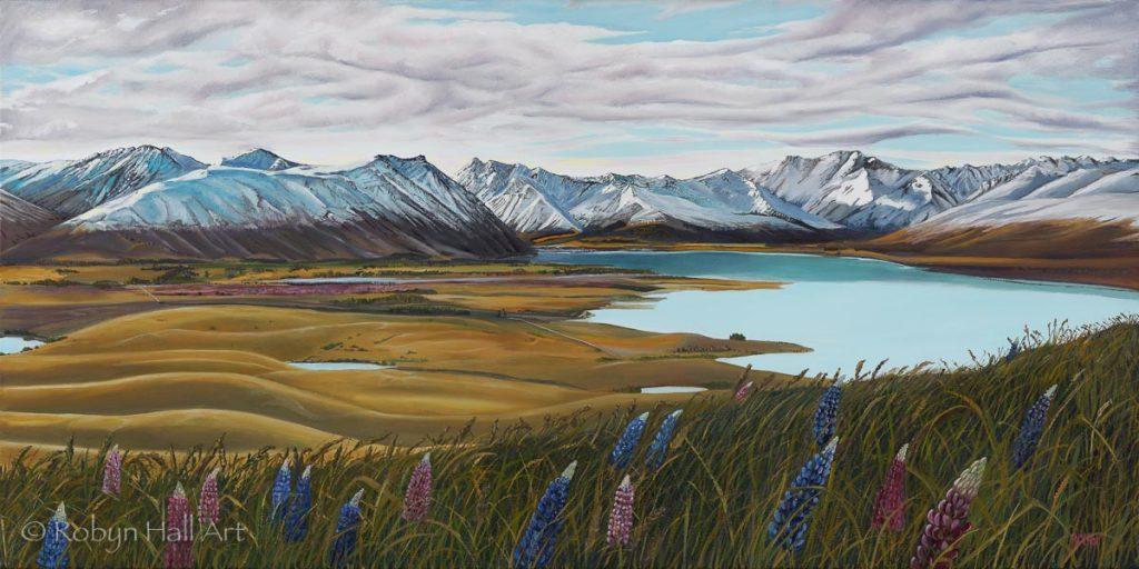 Lake Tekapo from Mt John 2020