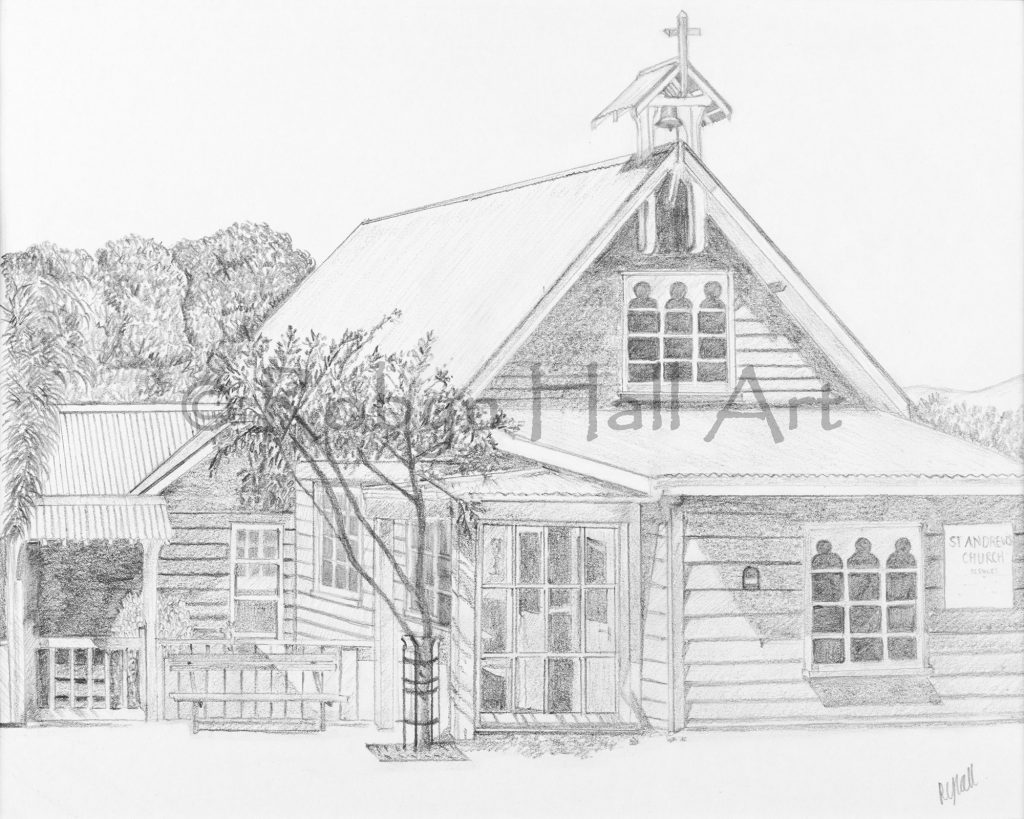 St Andrews Church - Pencil Drawing